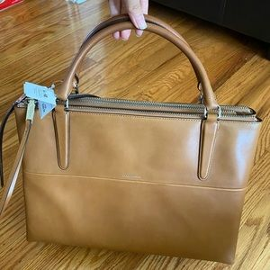 NWT Coach Borough Camel Leather Tote Bag